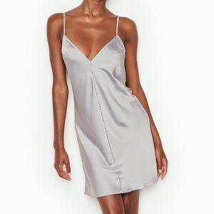 Victoria's Secret satin & Rhinestone slip dress